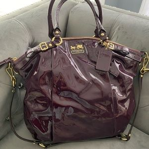 Authentic patent leather Coach bag